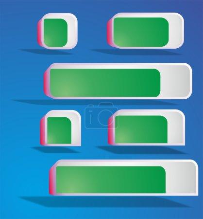 Ilustración de Vector 3d cajas set - Imagen libre de derechos