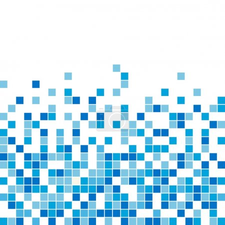 Illustration for A seamless vector background, blue color, perfect as a starting point for bathroom or kitchen tiles design, letterhead element, website background. Highly versatile. - Royalty Free Image