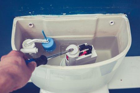 Hand fixing toilet