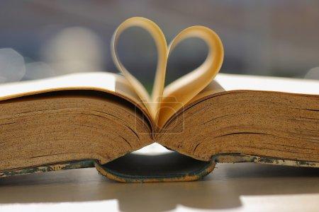Photo pour Livre en forme de coeur . - image libre de droit
