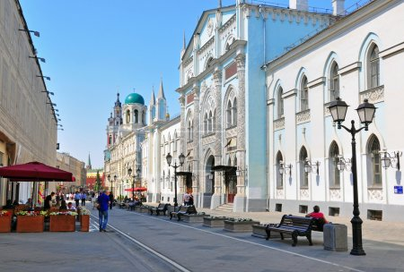Photo for New renovated Nikolskaya street, Moscow - Royalty Free Image