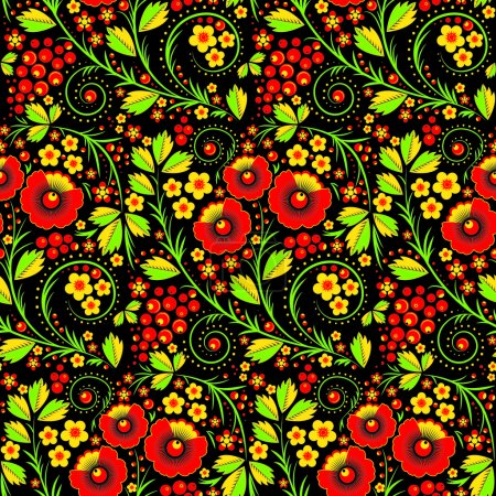 Seamless pattern in russian traditional style call...