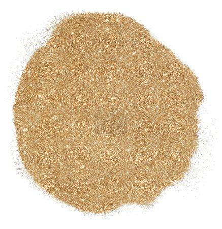 Photo pour Paillettes dorées sur fond blanc - image libre de droit