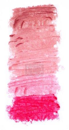 Photo pour Palette de rouge à lèvres sur fond blanc - image libre de droit