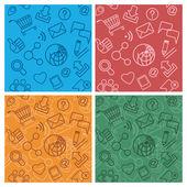 Internet Community Patterns Multicolor
