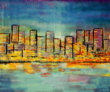 impressionism painting building