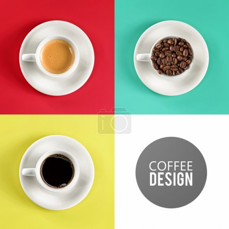 Photo for Top view close-up coffee cup art design - Royalty Free Image