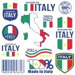 Shield emblem stamp label flag vector italy symbol...