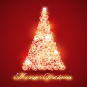 Merry Christmas card love abstract in vector format