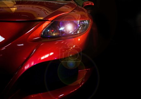 Photo for Lit headlight causing artistic lens flare - Royalty Free Image