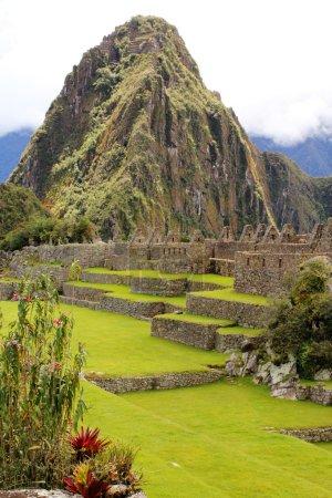 The famous ancient ruins of Machu Picchu in Peru