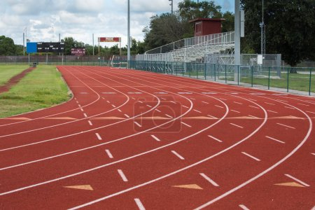 Photo for This track and field facility is a symbol of the importance of sports and athletics as an instrument in preparing students for the future. - Royalty Free Image