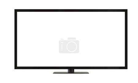 Photo pour Écran de télévision plasma plat isolé sur blanc - image libre de droit