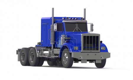 Blue truck isolated on white
