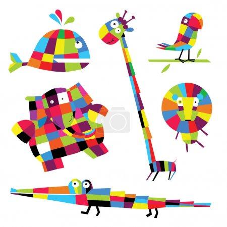 Illustration for Vector illustration. Animals - Royalty Free Image
