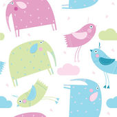 Vector background Animals