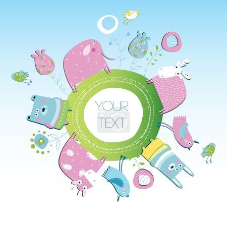 Vector illustration. Animal Planet.