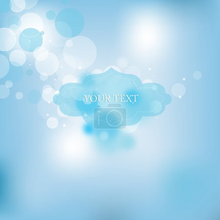 Vector background with bubbles
