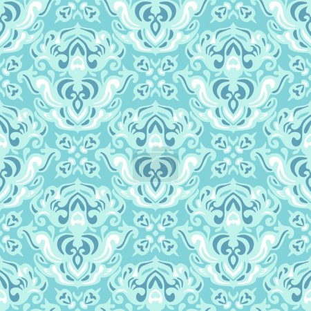Damask seamless vector pattern abstract
