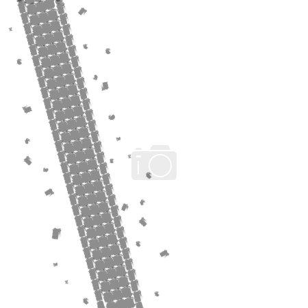 Illustration bicycle track background