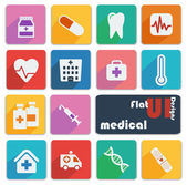 Flat UI design icons - Medical