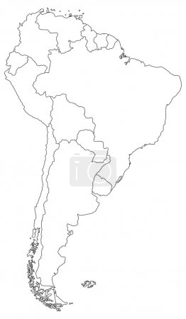 South America Blind Map.