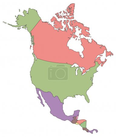 North America Political Map.