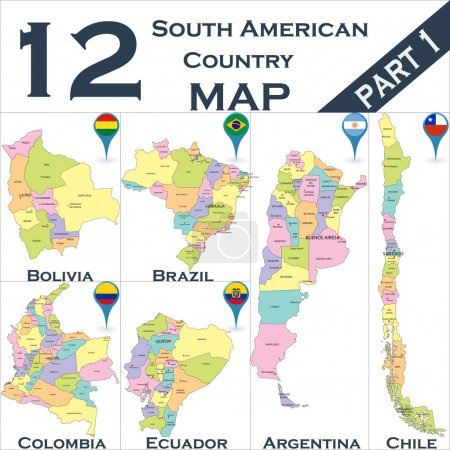South American political map
