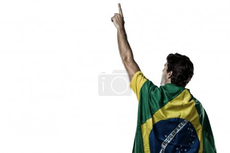 with a Brazilian flag on his back