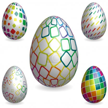 Easter rainbow 3D decorative texture eggs