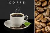 Zrnková káva v šálku