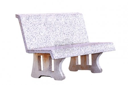 Concrete bench isolated