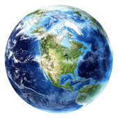 Planeta Země s přívalovými srážkami. pohled Severní Amerika