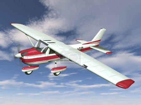 Foto de Pequeño avión sobre fondo de cielo - Imagen libre de derechos