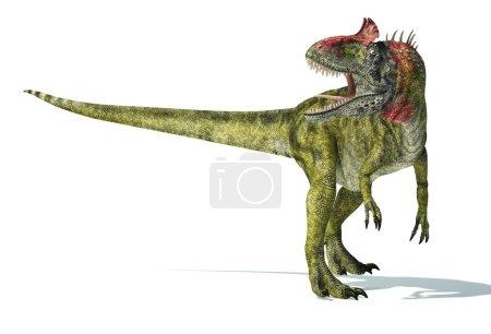Cryolophosaurus dinosaur, photorealistic and scien...
