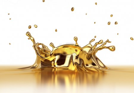 Liquid gold spash