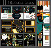 Set of 13 double business cards