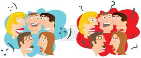 Illustration for Funny vector cartoon illustration - Royalty Free Image
