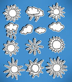 Simple vector weather symbols