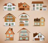 Townhouses (retro colors)