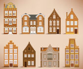 8 old houses (retro colors)