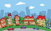 Small cartoon city