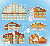 Alpine hotels & buildings (christmas)