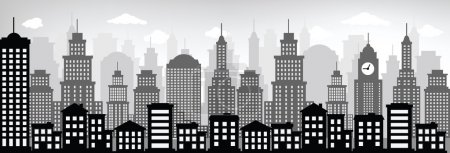 Cityscape (black & white)