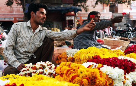 Flower market of India