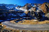 Klikaté silnici v pohoří fagaras, Rumunsko