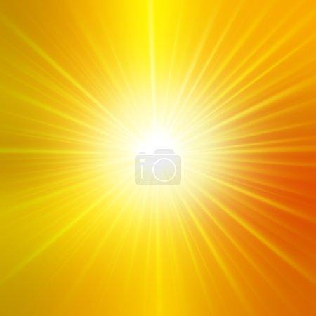 Photo pour Fond d'été avec un magnifique éclat de soleil avec éclat de lentille. Chaud avec de l'espace pour votre message - image libre de droit