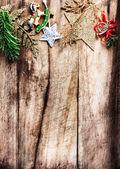 Christmas decoration as border