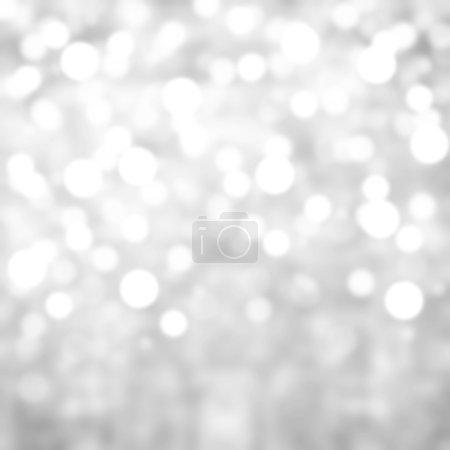 Foto de Plata las luces festivas fondo de Navidad con textura. Resumen Navidad brillaba fondo brillante con luces bokeh desenfocada - Imagen libre de derechos