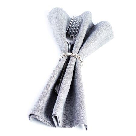 Leinen Textilserviette mit Besteck